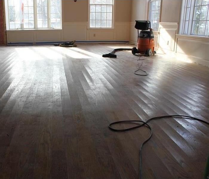 Little Rock Home and Rescued Hardwood Flooring Before