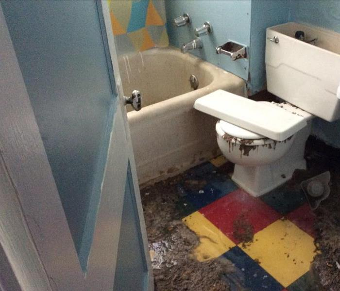 Daycare Sewage Damage Before