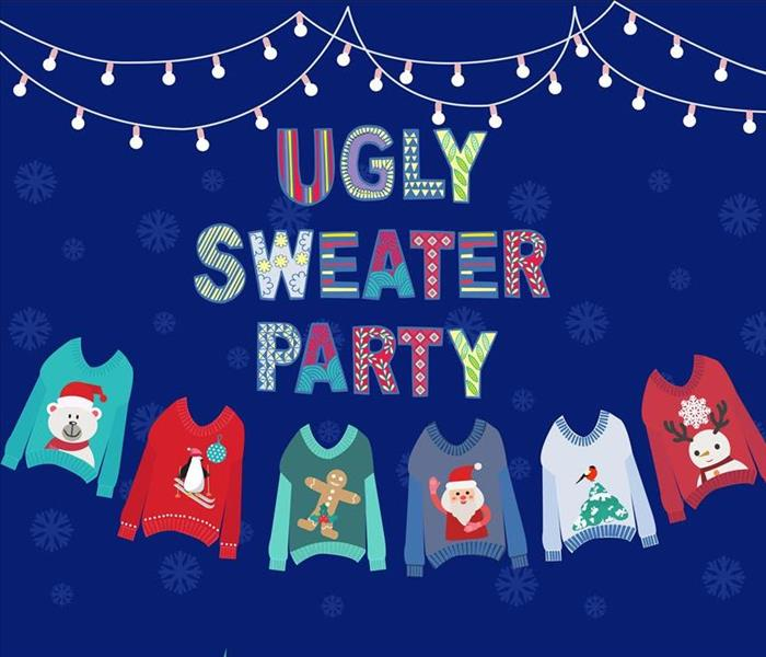 group of ugly christmas sweaters